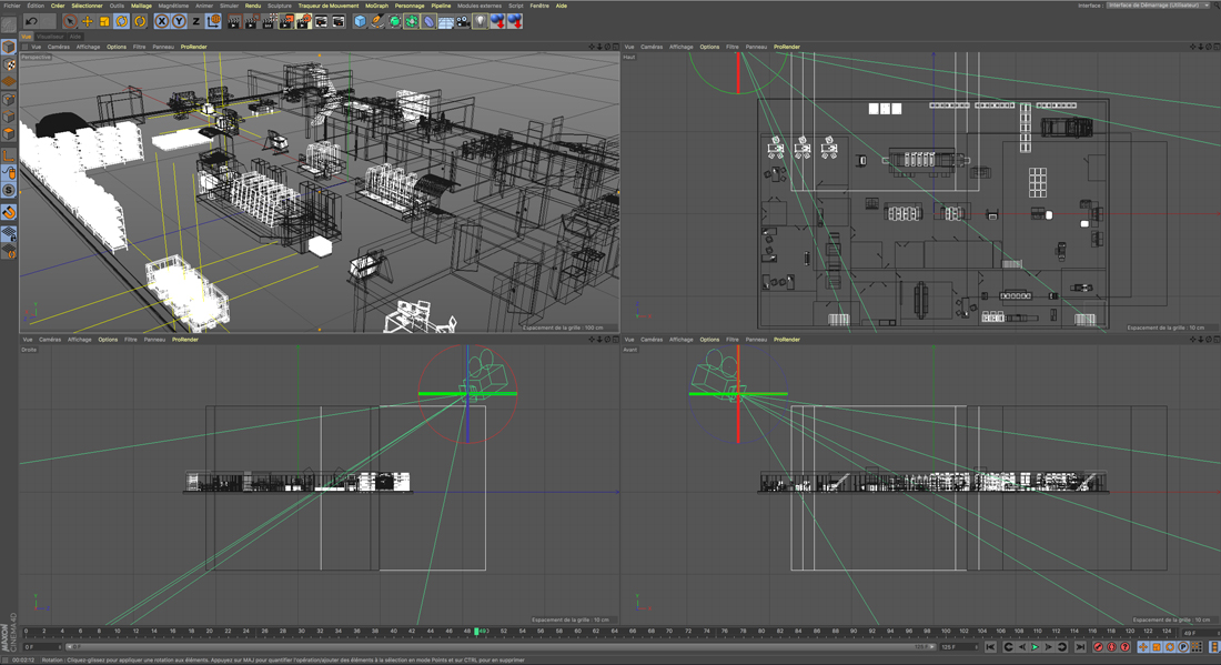 Visuel 3D filaire imprimerie 3D Unik Studio 3D