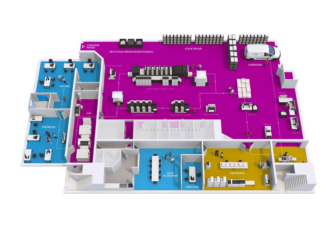 Infographie Imprimerie 3D finalisée Unik Studio 3D