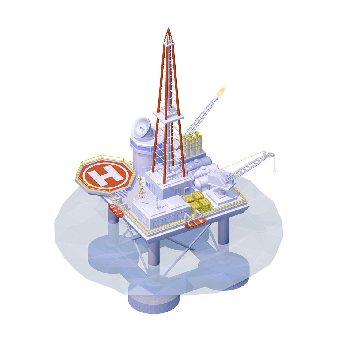 infographie 3D plateforme offshore cellulo Unik Studio 3D