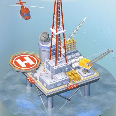 vignette infographie 3D plateforme offshore Unik Studio 3D